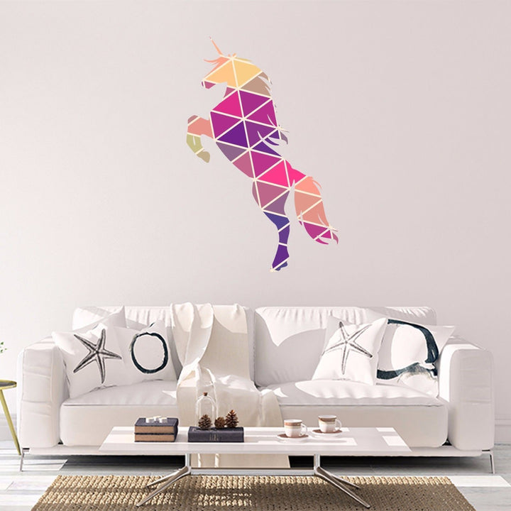 Unicorn Vinyl Sticker Geometric Animal Print Wall Vinyl Print Decal Art Design