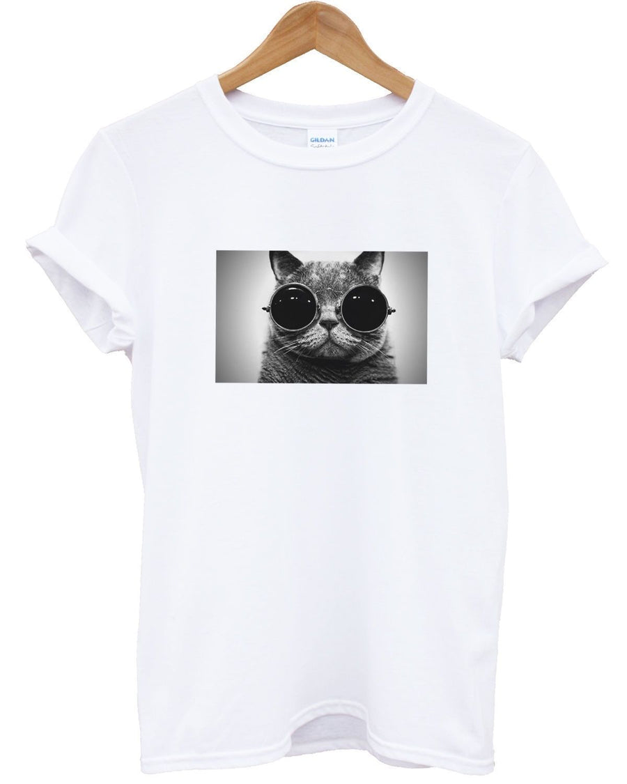 Hipster Cat T Shirt Tumblr Cat Feline Meow Hipster Urban Fresh Indie Men Women