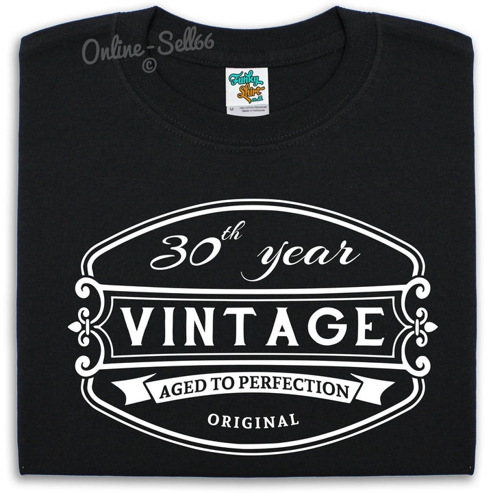 30 th Vintage Birthday Mens T Shirt 31 32 33 34 Funny Drink Bday Present Gift, Main Colour Black