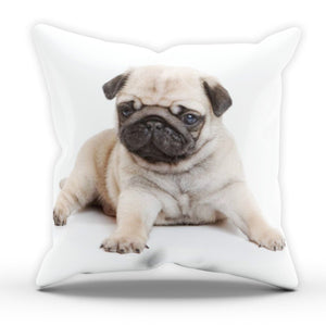 Cute Pug Puppy Pillow Cushion Pad Cover Case Bed Home Family Dog Animal Adorable