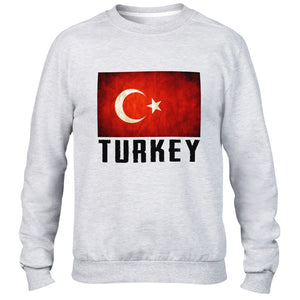 Turkey Mens Sweatshirt Top Womens Holiday Sweater Nation Euro football Train