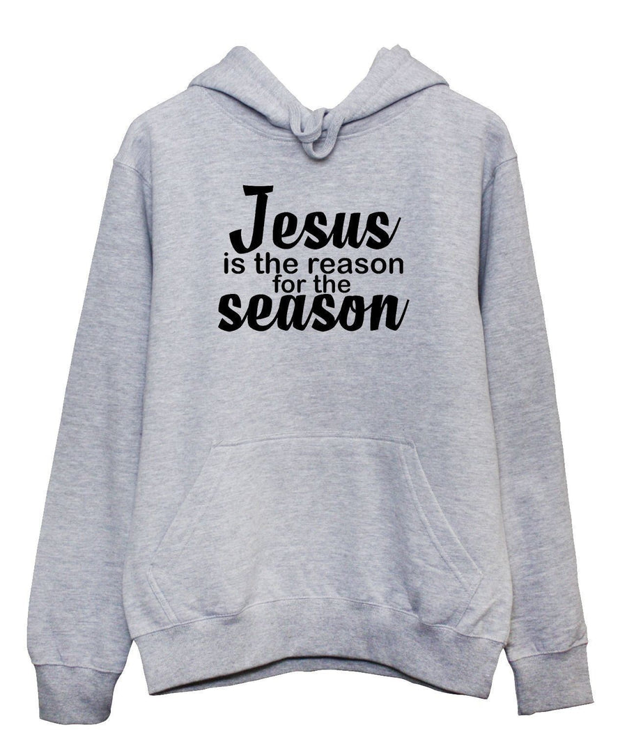 Jesus Is The Reason For The season Hoodie Hoody Nativity Play Religion Christmas