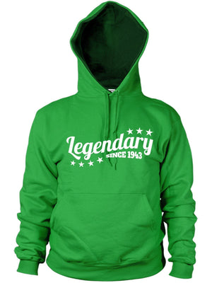 Legendary Since 1943 Hoodie Gift Birthday Present 73 74 years old Dad Women Mens