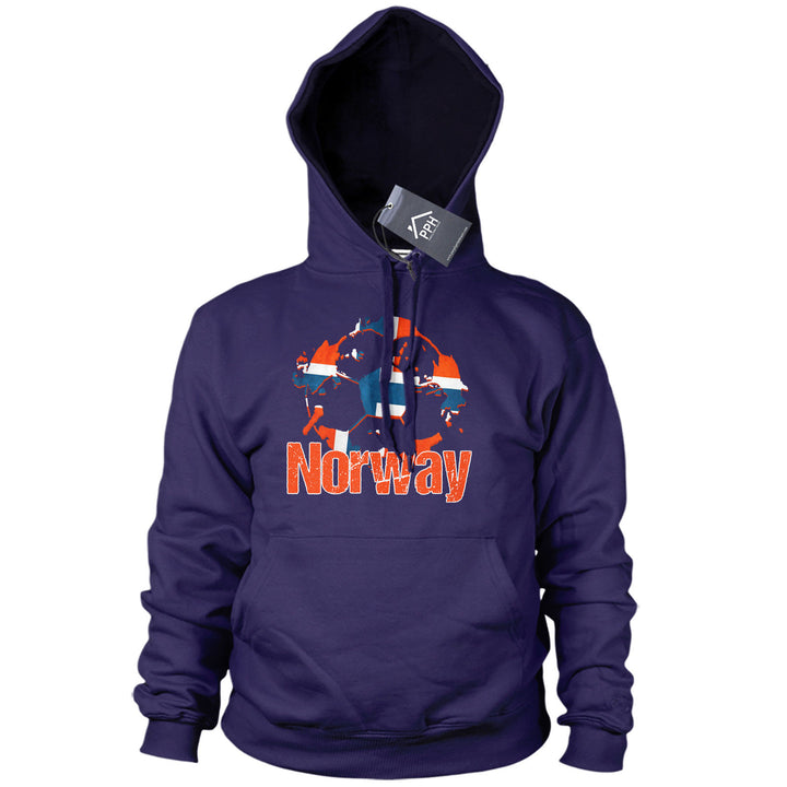 Norway Football Hoodie Mens Boys Norwegian Hoody Top Gift Euros Train B40