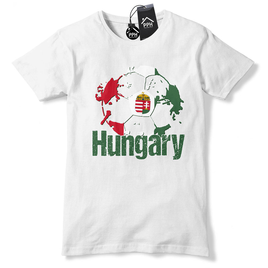 Hungary Football Shirt Red White T Shirt Hungarian tshirt tee Top Mens Gift B40