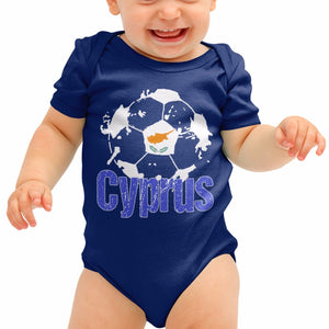 Cyprus Football Shirt Baby Grow Cypriot Romper Suit Babygrow Gift newborn B40