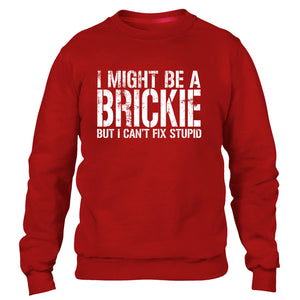 I MIGHT BE A BRICKIE BUT I CANT FIX STUPID SWEATER JUMPER BRICK LAYING LAYER MEN