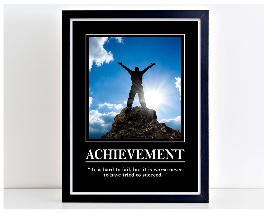 Achievement Hard to Fail Office Motivation Print Poster Wall Art Inspire PP100