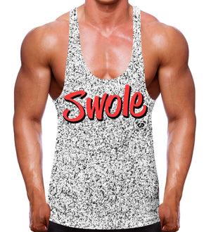 Speckled Swole Stringer Vest Gym Apparel Summer Men Bodybuilding Workout Train