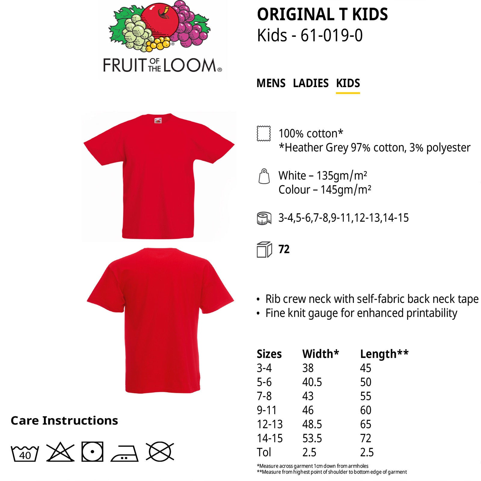 a48fcfaf5 ... Cotton Plain Childrens Boys Girls T Shirts Wholesale Supplier. Fruit of  the Loom
