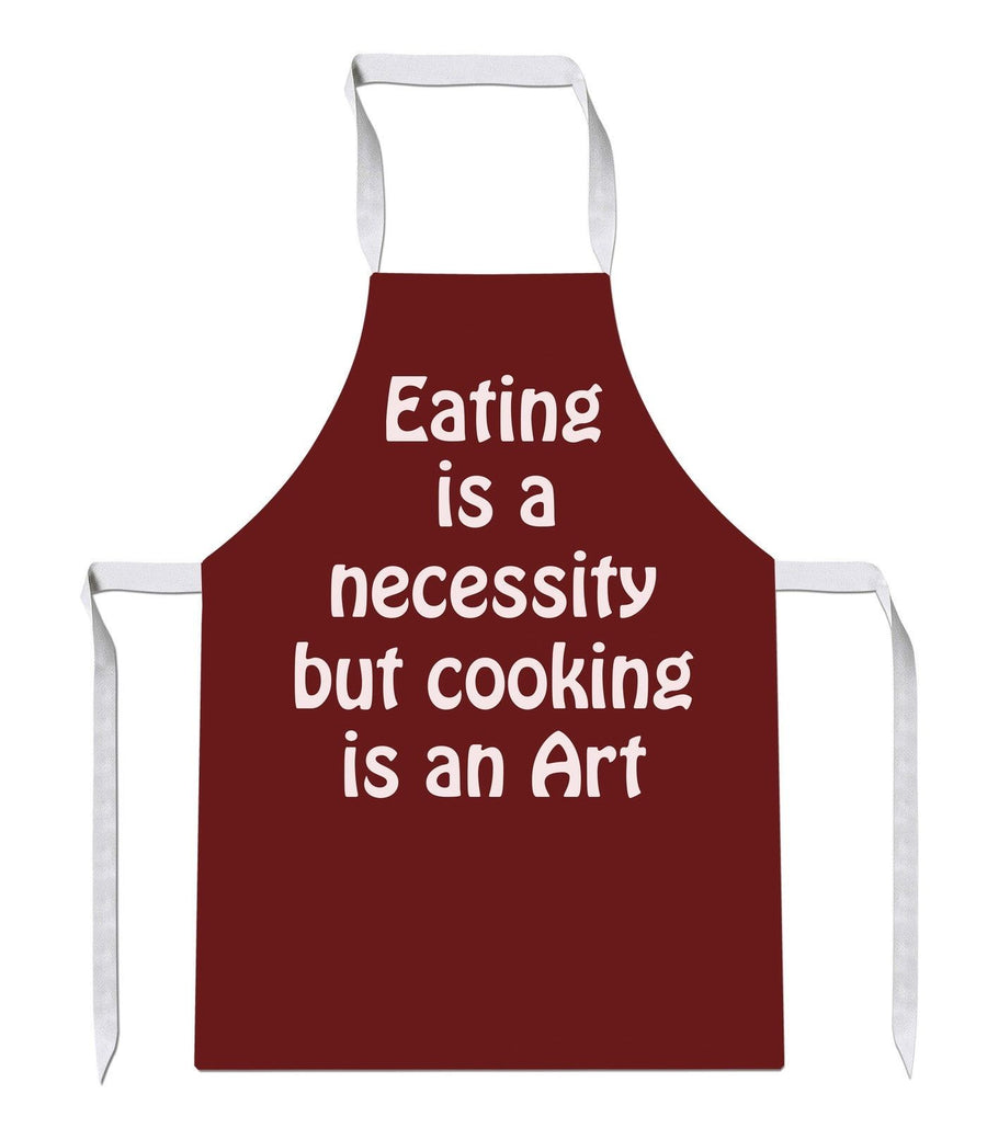 Eating is an Necessity Bake Kitchens Novelty Funny APRON Kitchen Tabard Linen 32