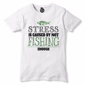 Stress Caused Not Fishing Enough Funny  T Shirt - Fathers Day Angling  733