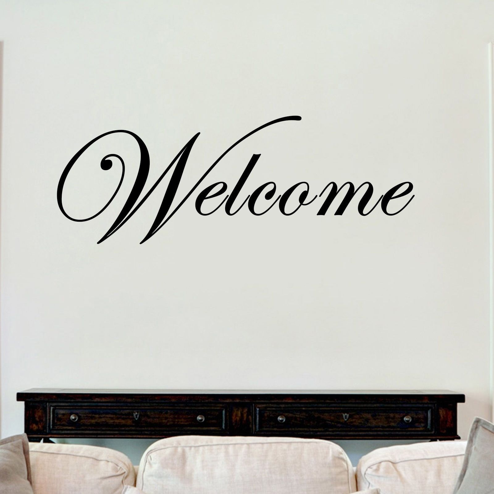 Welcome sticker vinyl decal decors wall quotes home house bedroom lounge hall the clothing shed