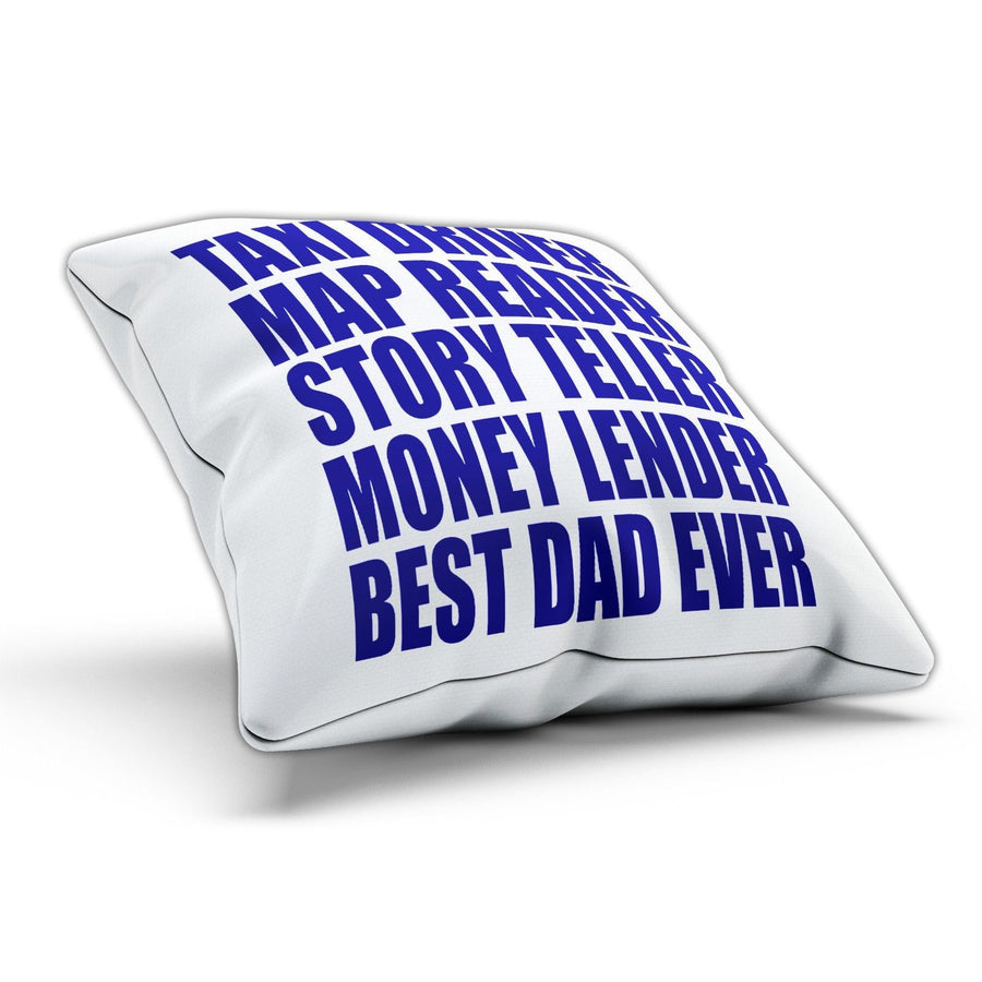 Best Dad Ever Pillow Cushion Cover Case Bed Room Fathers Day Present Gift Funny