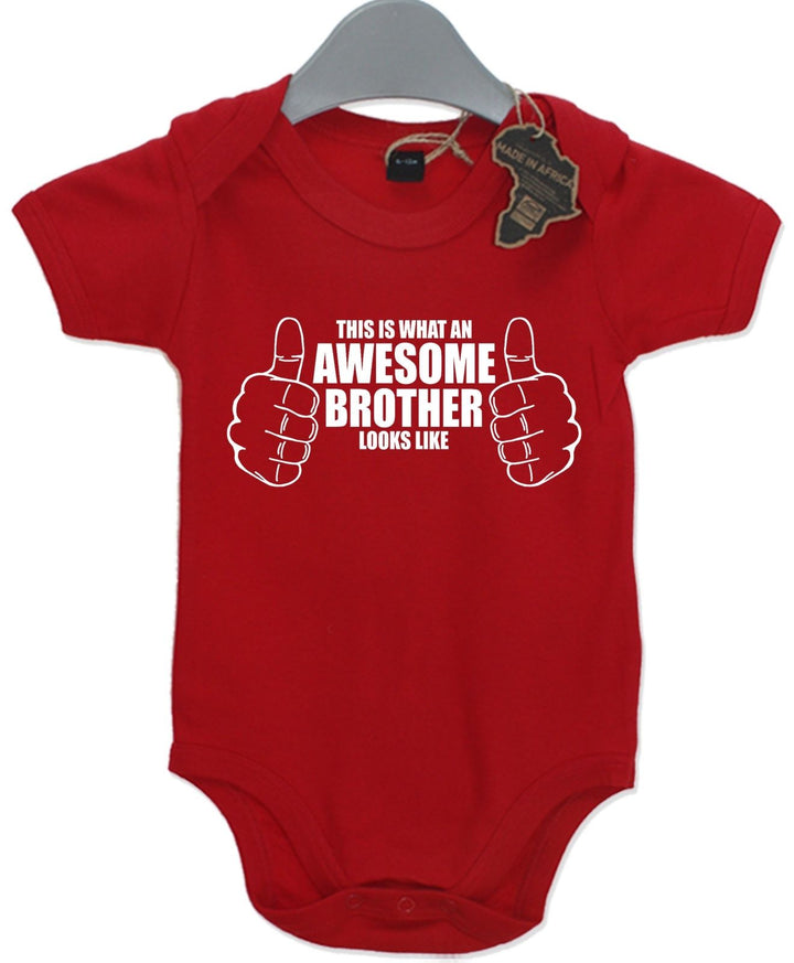 Awesome Brother Gift Baby Grow Birthday Twin Present Unisex Play Suit Cute