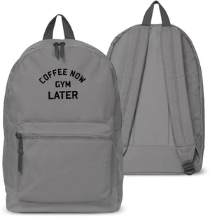 Coffee Now Gym Later Back Pack School bag Sports Swag Holdall Uni Collage 24