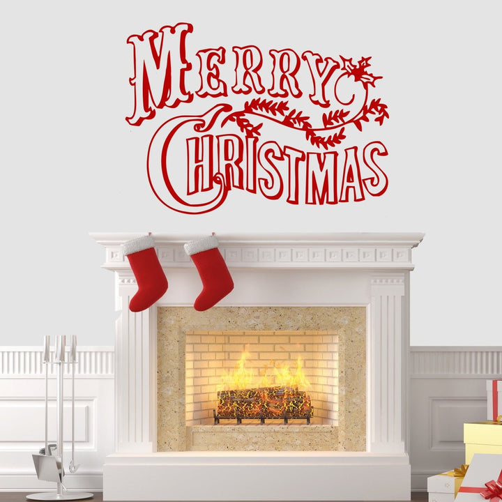 Merry Christmas Wall Sticker Vinyl Decorations Windows Art Xmas Decal Decor W3