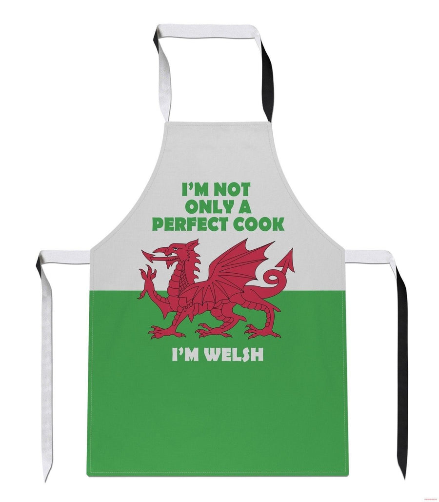 Not Only a Perfect Cook Im Welsh Funny Wales Cymru Rugby APRON Kitchen Tabard A7