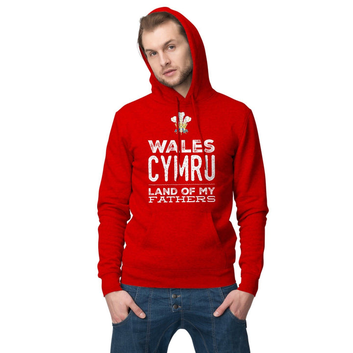 Wales Cymru Hoodie Land of My Fathers Welsh Hoody Football Rugby T Shirt 852