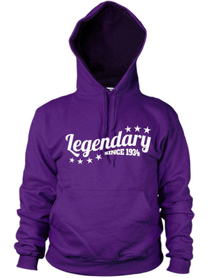 Legendary Since 1934 Hoodie Gift Birthday 82 83 years old Present Women Dad Mens
