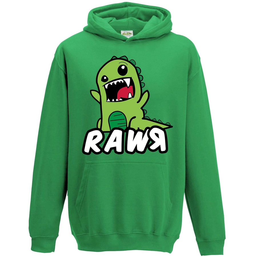 Funny Cartoon Dinosaur Rawr Hoodie Drawing Boys Clothing Clothes Jumper Trex L77