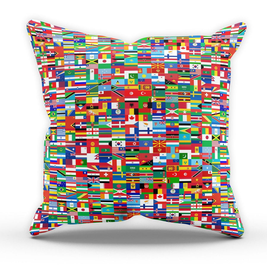 Flags CUSHION Worldwide Home Interior Style Livingroom Study Man Cave Geography