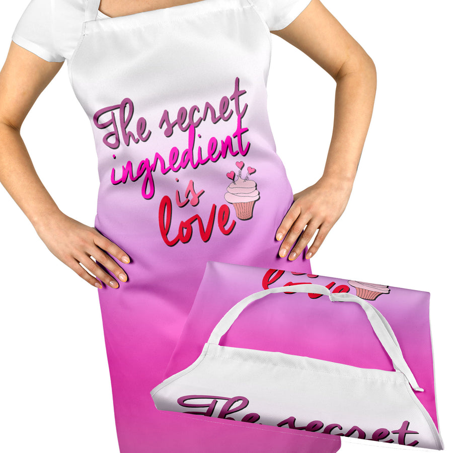 The Secret Ingredient Is Love Apron Valentines Day Cute Gift Chef Romantic EM171