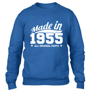 MADE IN 1955 ALL ORIGINAL PARTS SWEATER MENS WOMENS COOL FUNNY BIRTHDAY PRESENT