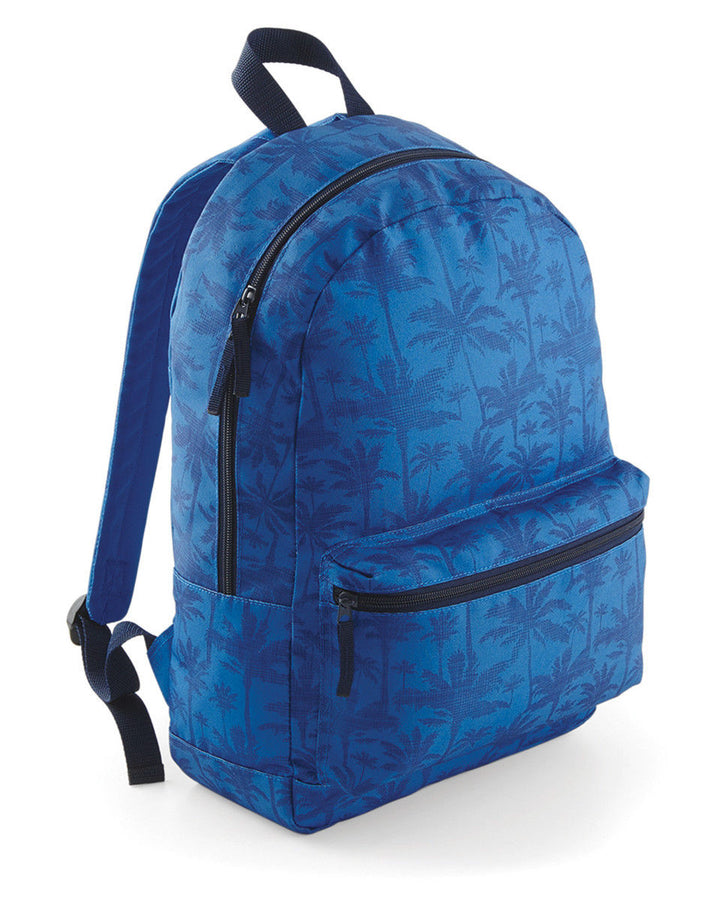 Palm Tree Backpack Pattern Bag School College Tropical Blue Rucksack Skate Boys
