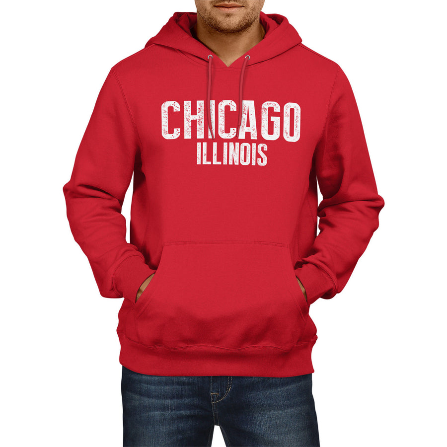 Chicago Illinois American State Hoodie Mens Womens Boys USA Girls Football Home