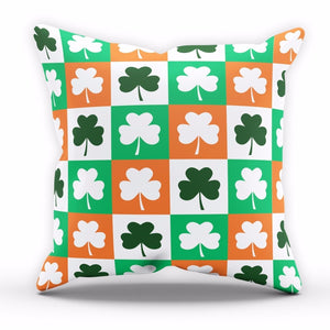 Shamrock Pattern St Patricks Day Cushion Ireland Pillow Home Bedroom Sofa P10