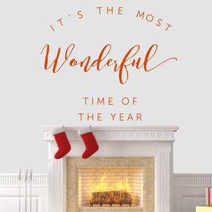 Its The Most Wonderful Time Of Year Wall Sticker Vinyl Decorations Art Xmas W17