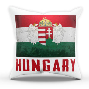 Hungary Flag Pillow Cushion Pad Cover Case Bed National Country Gift Euro Buda