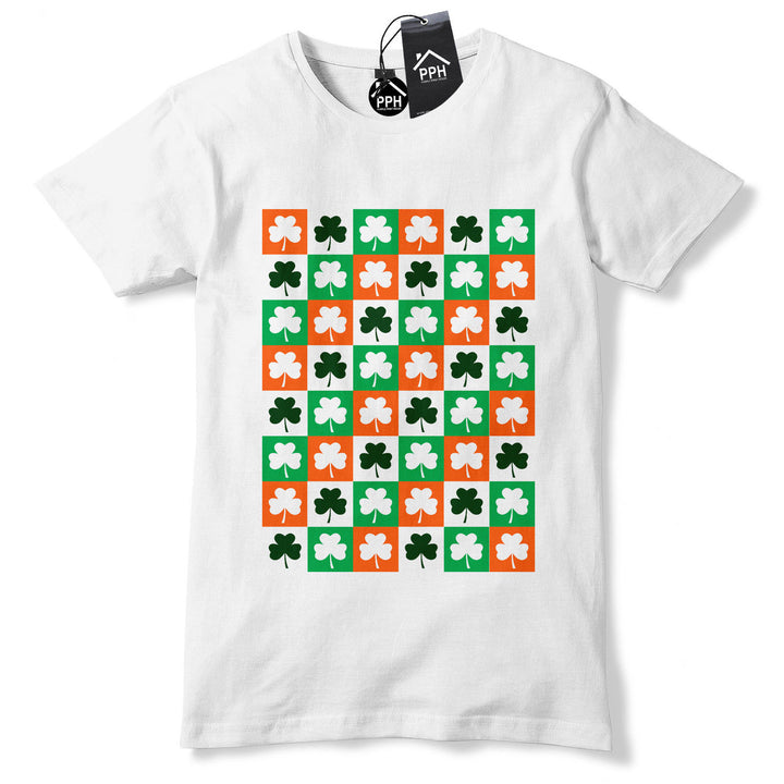 Shamrock Squares Fashion Irish Ireland Tshirt St Patricks Day T shirt Tshirt P10