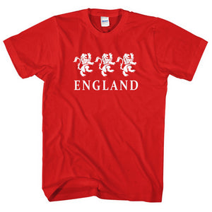 England Three Lions TShirt Football Fan Supporter Cricket World Cup Men Kid L274