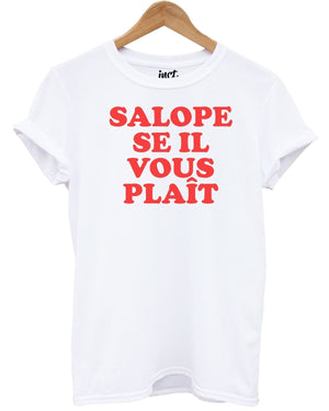 salope se il vous plaît t shirt funny french slogan rude tee joke girl spanish