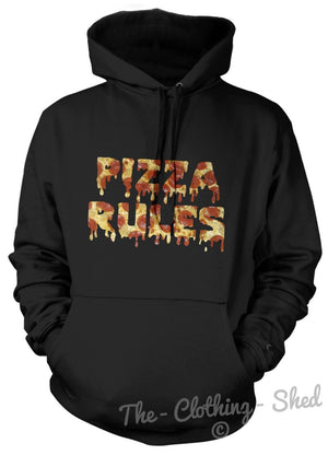 PIZZA RULES HOODIE HOODY MEN WOMEN KID FOOD COOL LOVE AWESOME FRESH
