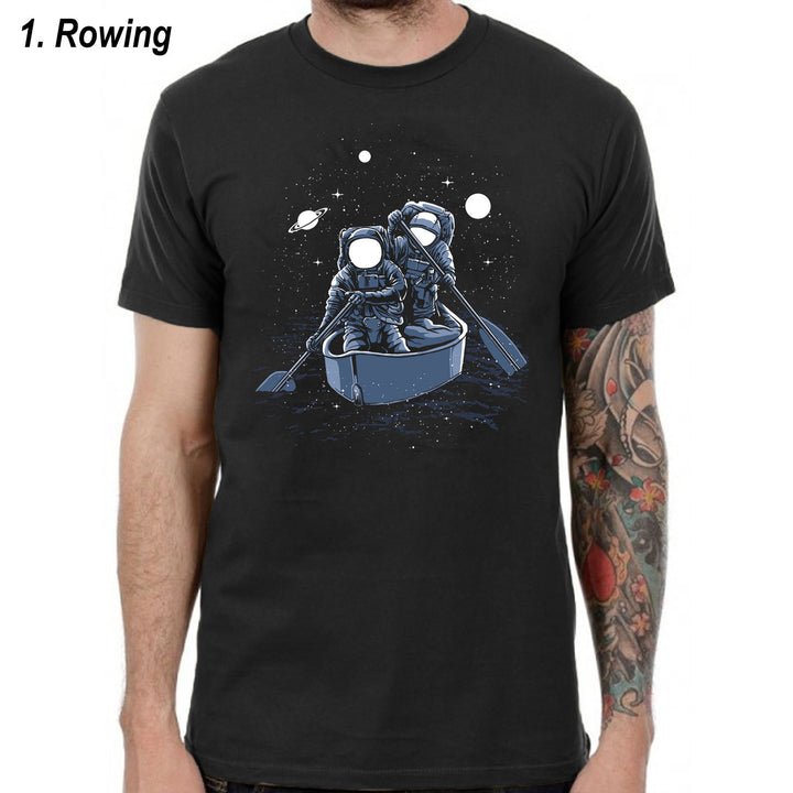 Astronaut T-Shirts Spaceman Tshirts Top Men Women Kids Graphic Skate Space L187
