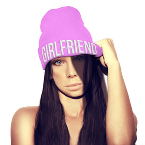 Girlfriend Beanie Hat Valentines Day Love Couples Gift Bobble Hat hipster swag