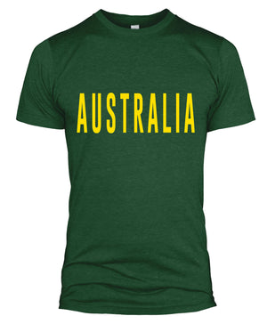 Australia Text Retro Style Football T Shirt Russia World Cup 2018 Fan Men L254