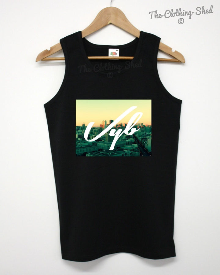 Vyb City View Vest Summer Beach White America Holiday Wave Vibe Hipsta Swag Tank