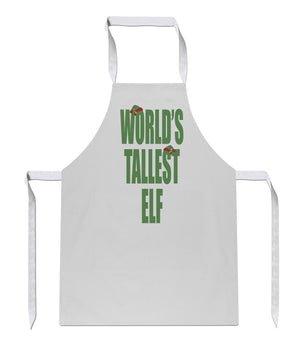 World's Tallest Elf Sublimation Christmas Apron 93 Christmas Elves Present Chef