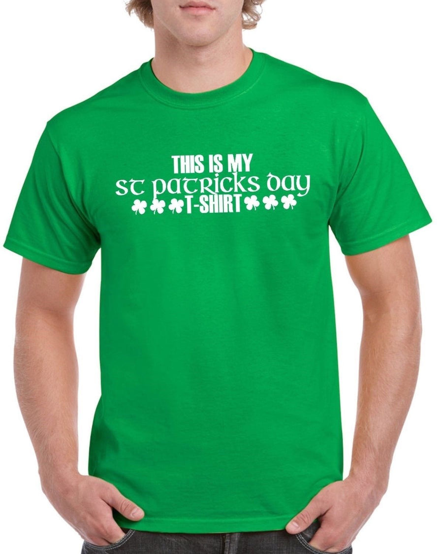 'This Is My St Patrick's Day T Shirt' T Shirt Shamrock Novelty Joke Funny Drunk, Main Colour Bottle Green
