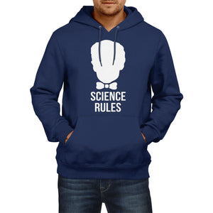 Bill Nye Science Rules Atom Funny Mens HOODIE Womens School Hoody Top E15