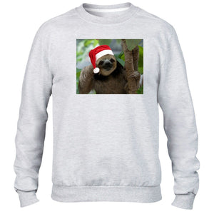 Sloth Christmas Hat Sweater Santa Lazy Present Funny Kids Children Gift Novelty