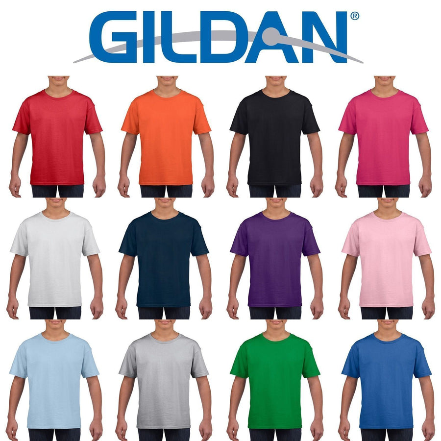 Gildan Softstyle Cotton Plain Blank CHILDRENS BOYS T Shirts Wholesale Cheap Bulk