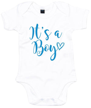 It's A Boy Baby Grow Baby Announcement Arrival Little Brother Gender Reveal AS18