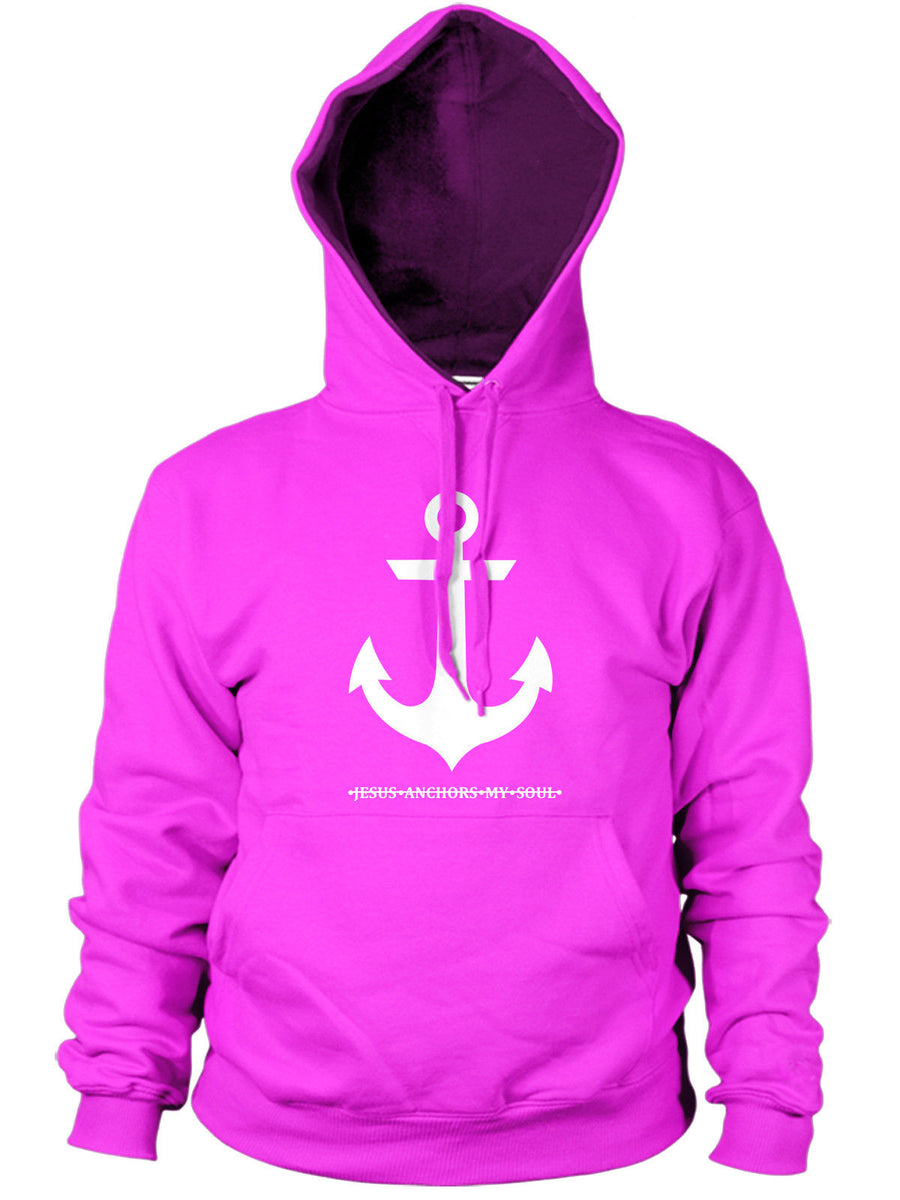 Jesus Anchors my Soul Mens Hoodie Religeon Anchor Church Hipster Hoody Top