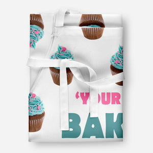 Personalised BAKING QUEEN Kitchen Cupcake Bake Gift Cook Baking APRON Tabard A22