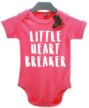 Little Heart Breaker Baby Grow Kids Children's Vest Cute Gift Gorgeous EBG12